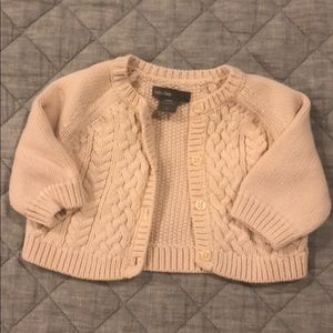 0-3 Baby Gap cable knit cardigan
